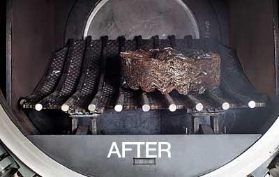 Kierrätetyt aerosolipurkit hazpak-laitteessa